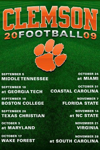 clemson football schedule