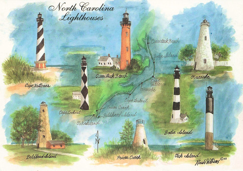 Levis allison art nc lighthouses for What state has the most lighthouses