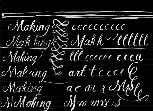 Lettering with a brush