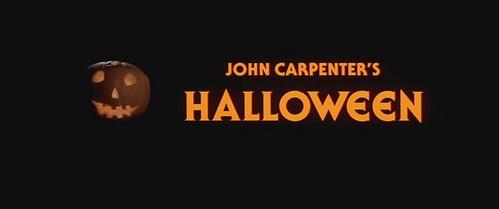 HALLOWEEN WEEK CONTINUES:  John Carpenter's HALLOWEEN, Cinemascope title frame, 1978