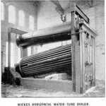Wickes horizontal water-tube boiler