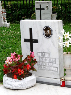 Grave of Woman Killed in Romanian Revolution - Brasov - Romania