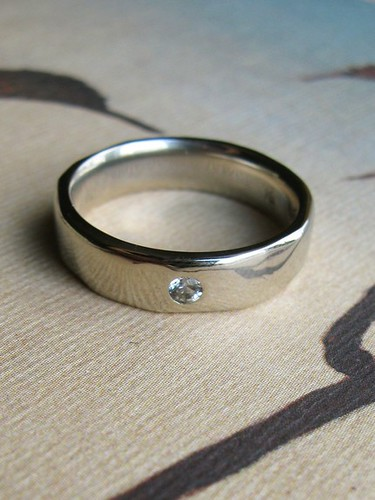 mens wedding ring white sapphire to match