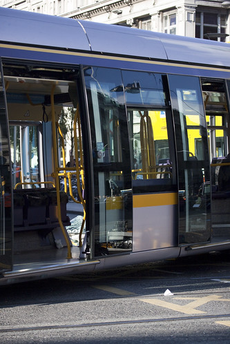 Luas Tram Crashes Into Bus - O'Connell Street Dublin by infomatique