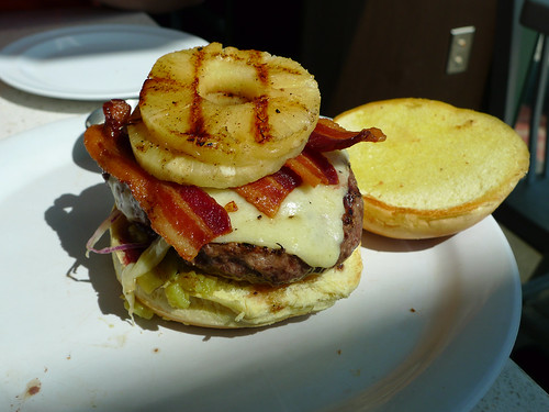 Edible Organic Green Tea Burger w/blue cheese