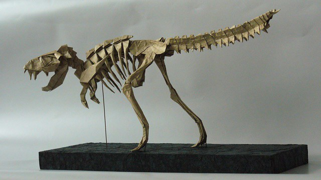 Origami T Rex Skeleton Gallery Instructions Easy For Kids