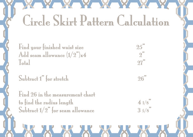 circle skirt pattern calculation flickr photo sharing
