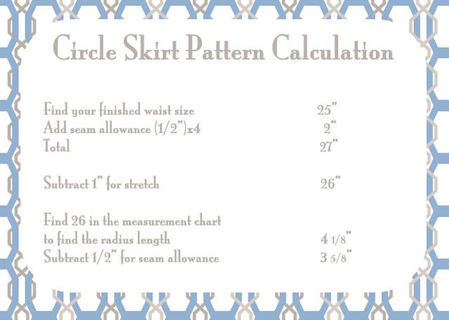 circle skirt pattern calculation flickr photo sharing
