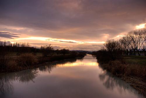 panorama landscape tramonto fiume rimini hdr highdynamicrange arrivo marecchia lecelle