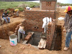 soil, bricklayer, construction, brickwork,