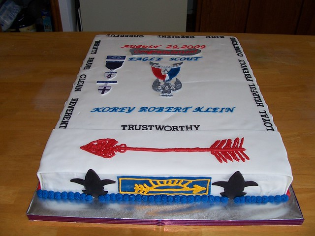 Korey Klein Eagle Scout Cake OA and AOL....from this ...