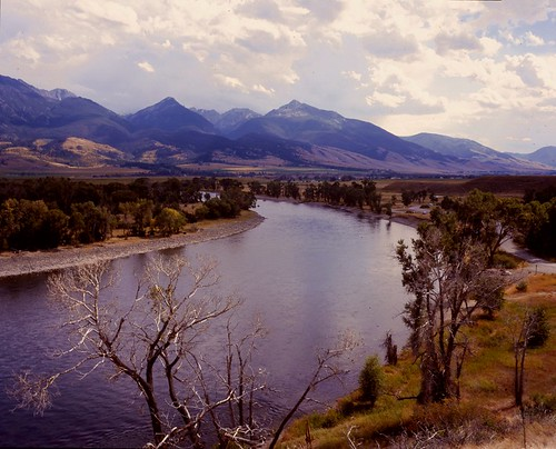 Paradise Valley, MT -- Yellowstone River Bend #4