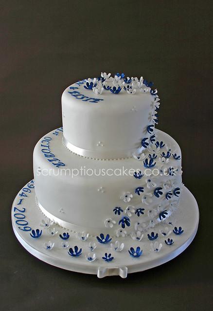 Cake Ideas For 45th Wedding Anniversary : photo