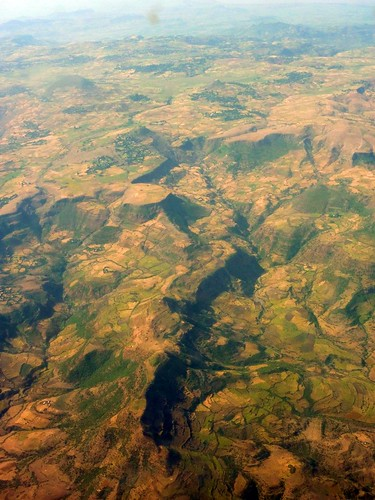 Flying above Ethiopia