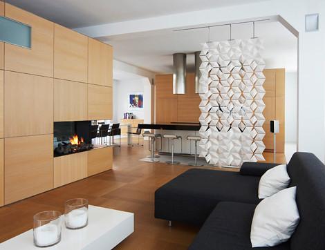 Usare i separè per dividere gli  spazi in casa