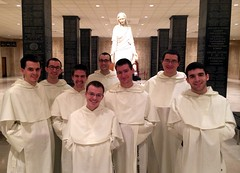 1/2 of novitiate class at the Shrine