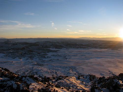 sunset utah desert sanrafaelswell cedarmountain