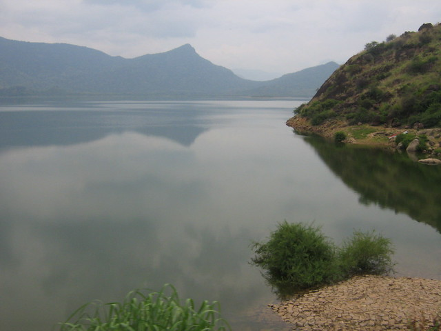 Calm waters of Manimuthar......An artist's painting rather!!!!!