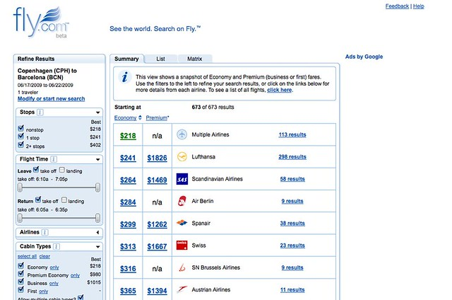 cheap flights airline tickets