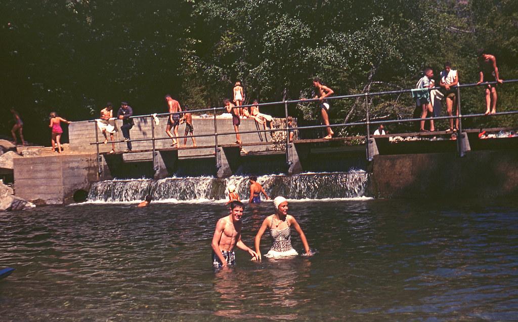 Pfeiffer big sur state park big sur river dam 1959 a for Big sur fishing