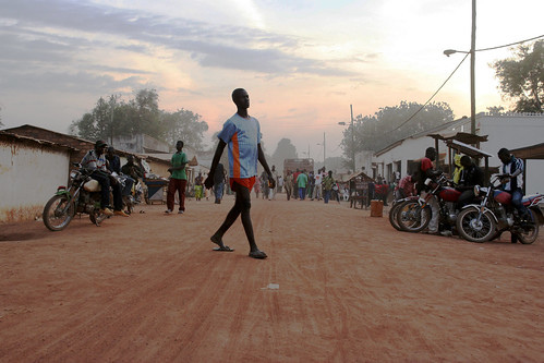 Main street, Paoua, north west Central African Republic (CAR)