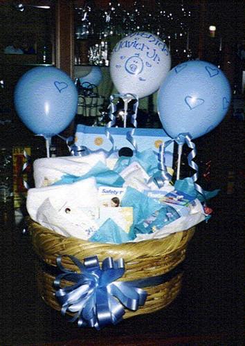 cansta de baby shower 2 canastas para regalos de ventos