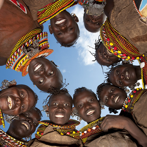 Turkana tribe girls, Kenya