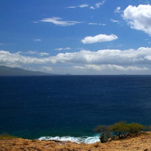 A stunning ocean view off the main highway along West Maui.