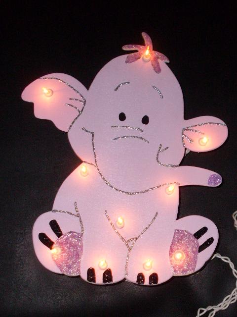 winnie the pooh heffalump mit glitzer wandlampe lampe schlummerlicht flickr photo sharing. Black Bedroom Furniture Sets. Home Design Ideas