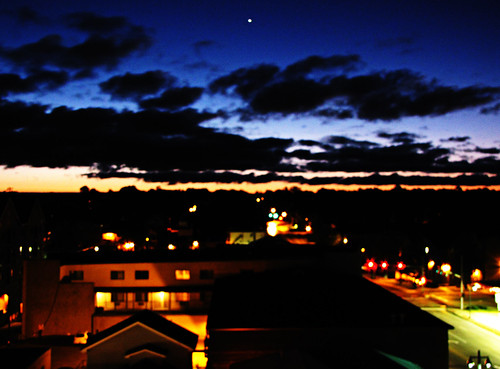 blue orange sunrise star iowacity