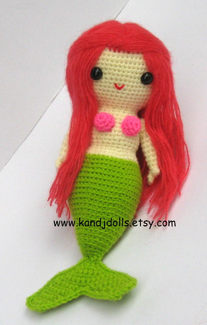 Miss mermaid, amigurumi crochet pattern Flickr - Photo ...