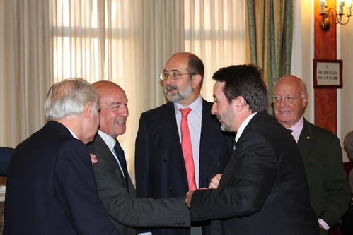 Josu Jon Imaz con el Grupo Vasco del Club de Roma en 2009