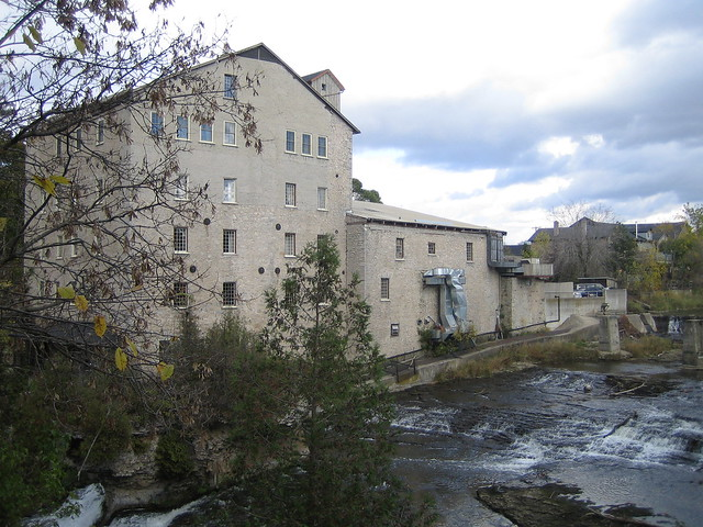 Elora (ON) Canada  city pictures gallery : Elora Mill Inn seen from Elora Gorge, Elora Ontario Canada