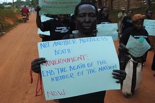 Young and old attend protests KC Sharifah Nabukenya