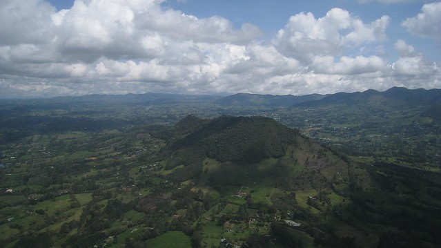 Colombian landscape on approach to Jose Maria Cordova International Airport