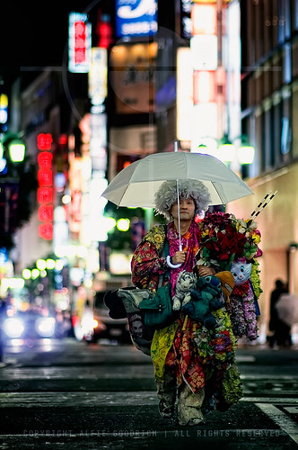 Japanese 'Joseph' and His Technicolored Dream-coat; Shinjuku, Tokyo