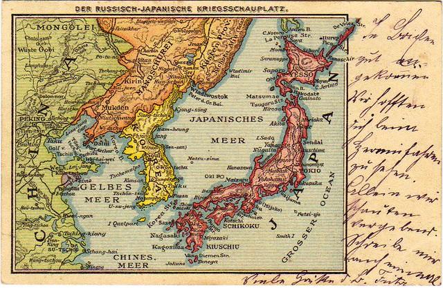 朝鲜半岛的地图 russo-japanese
