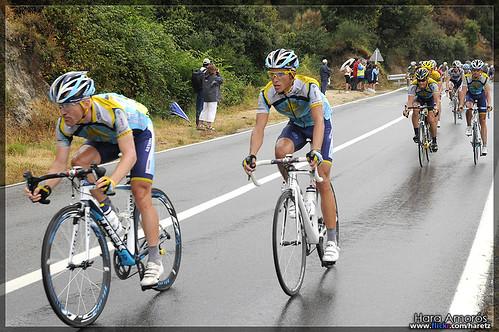 Lance Armstrong & Alberto Contador - Tour de France 2009, stage 6 Barcelona (La Conreria)