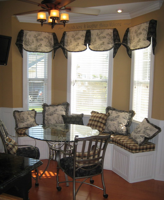 5 Curtain Ideas For Bay Windows Curtains Up Blog: Toile Window Seat And Valances