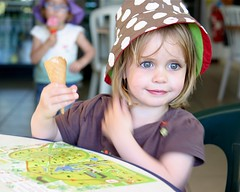 Orla, her map and her ice-cream