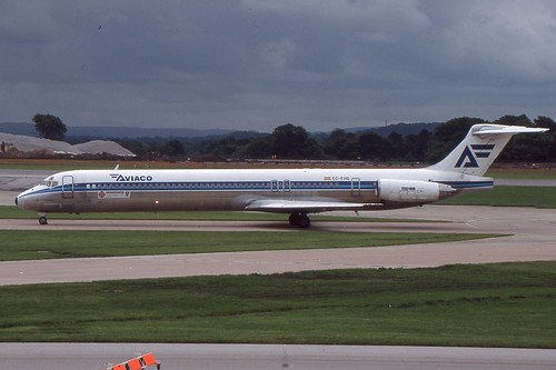 Aviaco McDonnell Douglas MD-88 at Manchester Airport