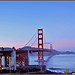 Pastel Pink & Blue Skies Behind Golden Gate Bridge, San Francisco, California - IMRAN™ — 850+ Views!
