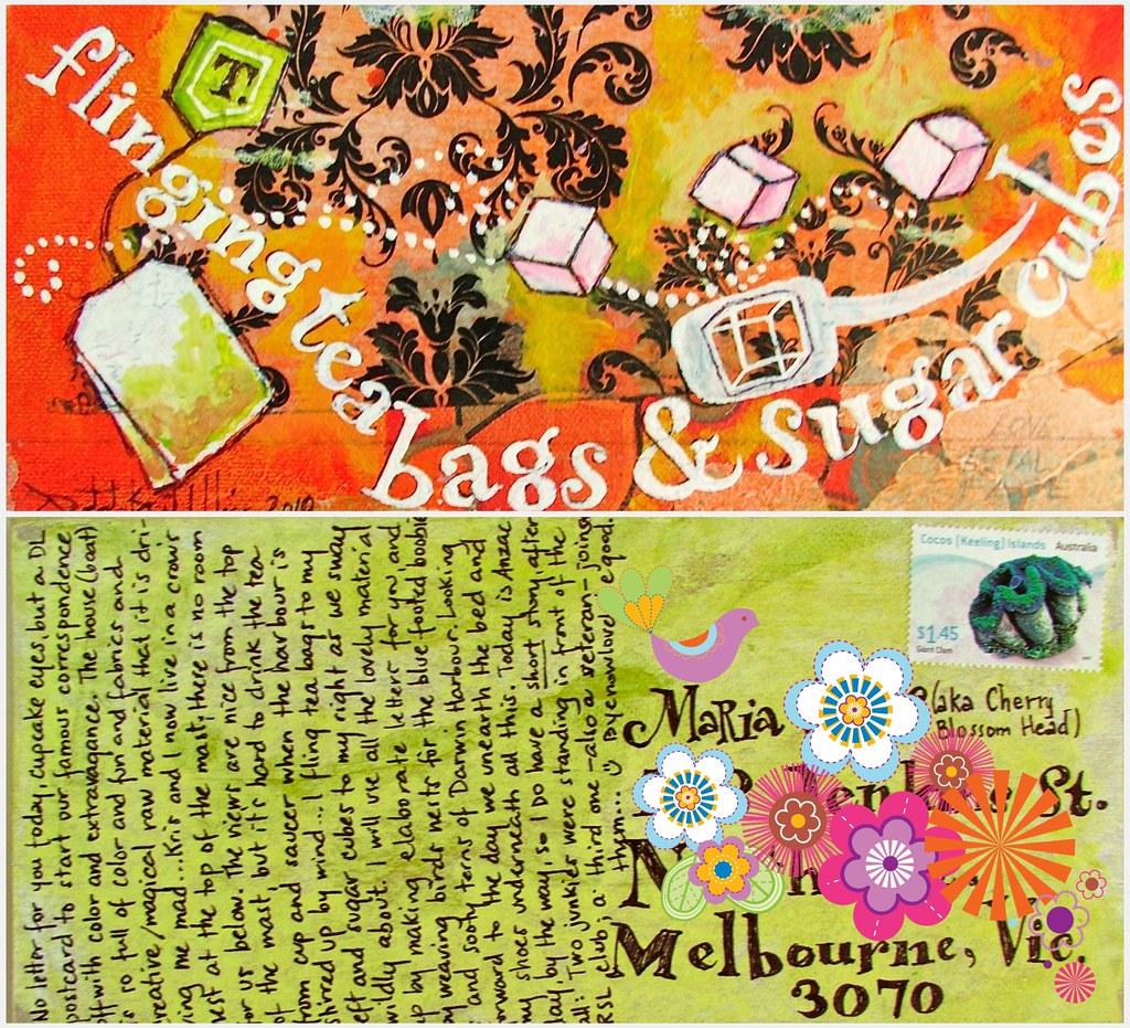 Tea bags and sugar cubes :: a postcard for Maria