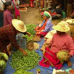 Nam Pan Market Scene - Inle Lake, Burma