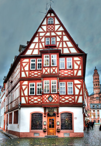 Famous Timber-Framed House in Mainz