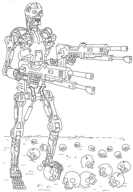 Terminator 2 Coloring Pages Coloring Pages