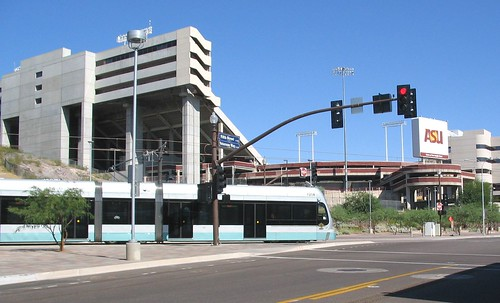 Light Rail at Sun Devil Stadium