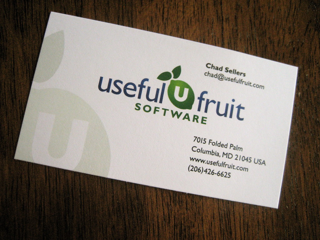 Useful fruit business card front a photo on flickriver useful fruit business card front reheart Image collections
