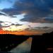 Sunset when riding bike.
