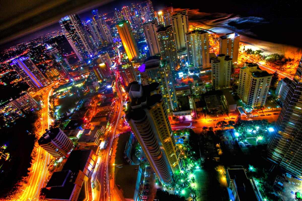 neon city lights flickr photo sharing